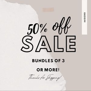 TODAY!! ONLY!! 50% off